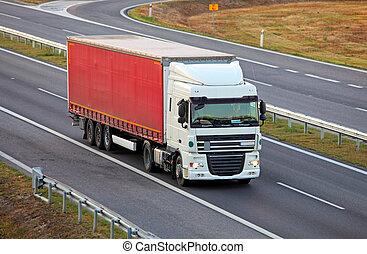高速公路, 卡車, 交換