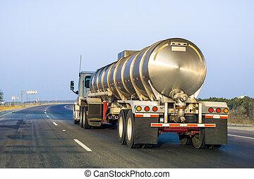 高速公路, 罐車, 開車