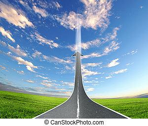 高速公路, 路, 上升