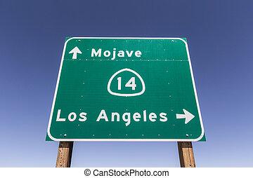 高速道路の印, アンジェルという名前の人たち, los, mojave の 砂漠