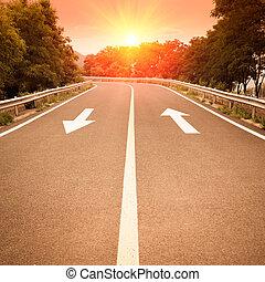 高速道路, 日没