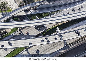 高速道路, 航空写真, タラップ