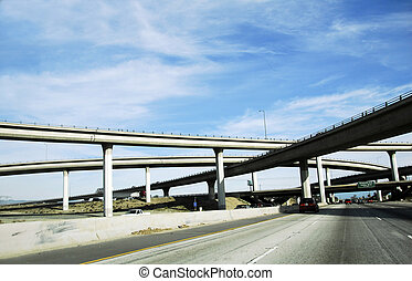 高速道路, 跨線橋, アメリカ, システム