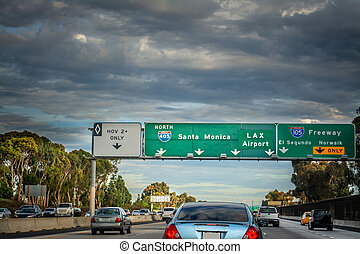 高速道路, los, 405, 交通, アンジェルという名前の人たち, northbound