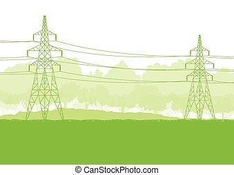 高電壓, 輸電線