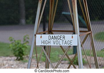 高, 危险, 电压, 签署