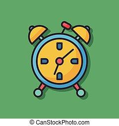 鬧鐘, 矢量, 圖象
