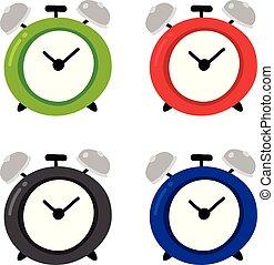 鬧鐘, 矢量, 設計