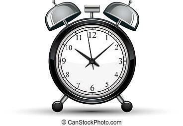 鬧鐘, 矢量, illustration.