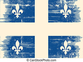 魁北克, grunge, flag.