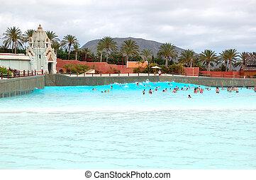 魅力, tenerife, waterpark, 島, -, 人工, 主題, 最も大きい, シャム, 楽しむ, 2011...
