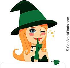 魔女, ハロウィーン, まばたき