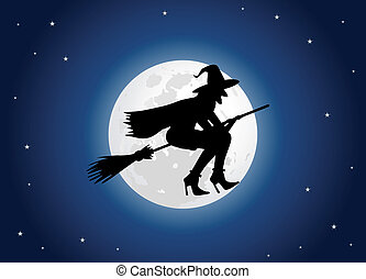 魔女, 月