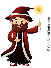 魔法使い, 魔法の 細い棒