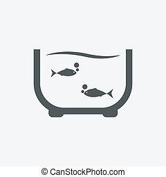 魚, ベクトル, イラスト, カラフルである, 水族館