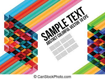 鮮艷, 三角形, 卡片, 覆蓋, 等等, 小冊子, 背景, 網站, 摘要, 海報, 布局, 命名, pattern., 雜志