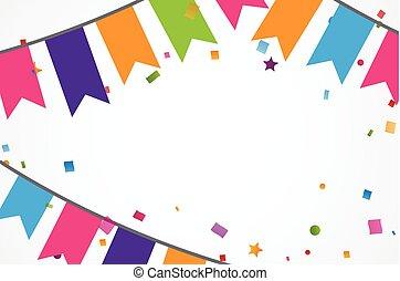 鮮艷, 五彩紙屑, 背景, 由于, 棉經毛緯平紋呢, 旗