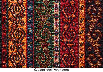 鮮艷, 印第安語, 紡織品
