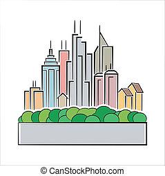 鮮艷, 城市, 圖象
