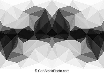 鮮艷, 多角形, 摘要, 背景