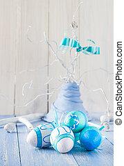 鮮艷, 復活節蛋, 裝飾, 安排