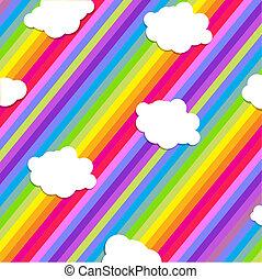 鮮艷, 插圖, 設計, 由于, 雲