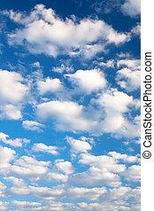 鮮艷, 明亮的藍色, 天空, 背景。