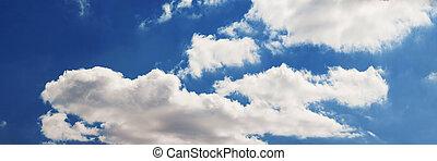 鮮艷, 明亮的藍色, 天空, 背景, xxl