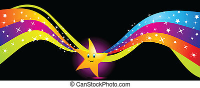鮮艷, 星, 跳舞, 摘要