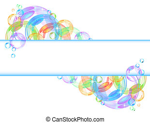鮮艷, 氣泡, 矢量, 背景