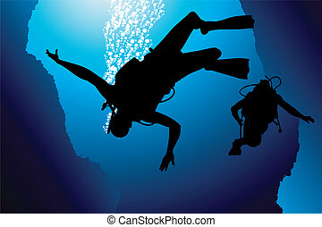 鮮艷, 水下呼吸器潛水員, 矢量