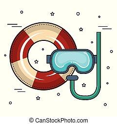 鮮艷, 水下通气管, 設計