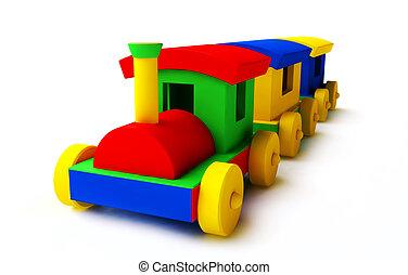 鮮艷, 玩具火車