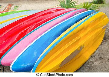 鮮艷, ......的, 獨木舟, row.
