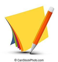 鮮艷, 空, 報紙, 由于, 鉛筆, 被隔离, 在懷特上, 背景