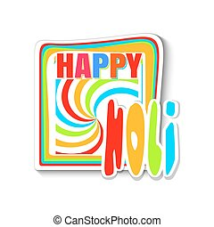 鮮艷, 節日, -, 顏色, 印第安語, holi, 旗幟, holi., 愉快