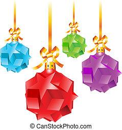鮮艷, 聖誕節, 摘要, 裝飾