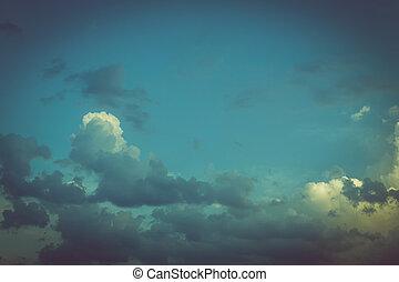 鮮艷, 葡萄酒, 藍色的天空, 背景