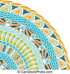 鮮艷, 裝飾品, 背景。, 矢量, 馬賽克, 輪, 种族划分