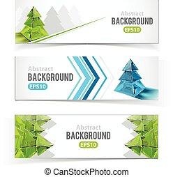 鮮艷, 集合, ......的, 旗幟, 由于, 圣誕樹