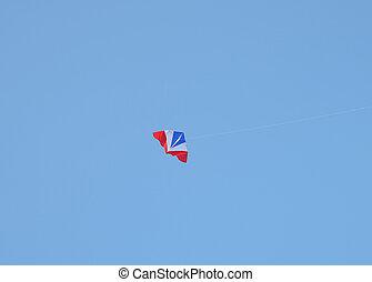 鮮艷, 風箏, 上, 藍色的天空