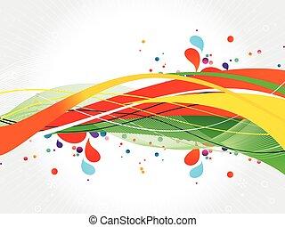 鮮艷, 飛濺, design-stock, 插圖