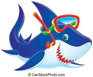 鯊魚, 潛水者