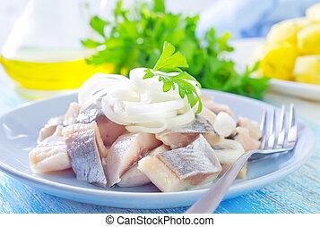 鯡魚, 由于, 洋蔥
