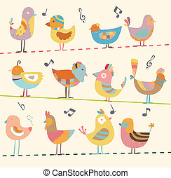 鳥, カード