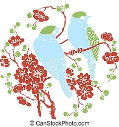 鳥, スタイル, 紋章