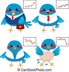 鳥, ビジネス 概念