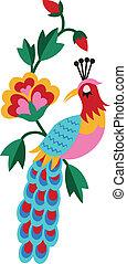 鳥, 刺繍, グラフィック