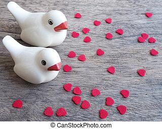 鳥, 心, 対, 小片, 形