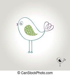 鳥, 標識語, 圖象, 以及, 符號, 矢量, 插圖